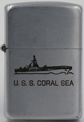 1946-47 Zippo for USS Coral Sea, anaircraft carrier launched in 1947