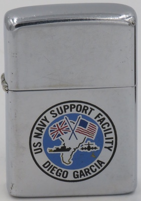 1981 Zippo for the US Navy Support Facility Diego Garcia