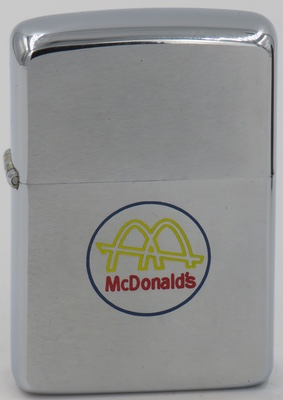 1967 Zippo with McDonald's Golden Arches logo
