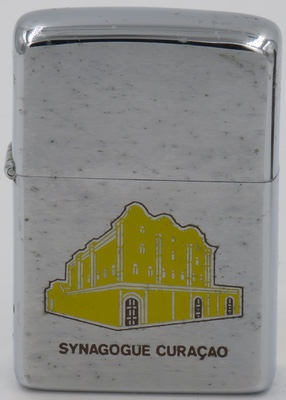 1968 Zippo for Curacao Synagogue, one of the oldest synagogues in the Americas