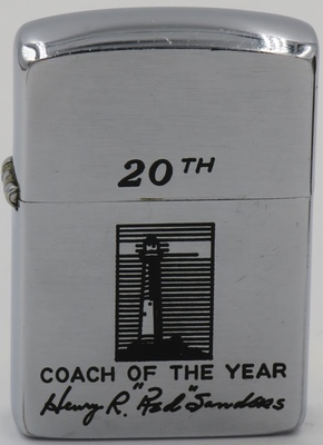 "1953 Zippo honoring Henry R ""Red"" Sanders as the American Football Coaches Association's (AFCA) 20th Coach of the Year in 1954. He was the coach of UCLA and led them to the Rose Bowl in 1953"