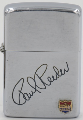 1951 Zippo for United Airlines engraved with the name Paul Reeder