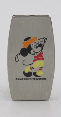 This is a rare Zippo pocket knife with the image of a golfing Mickey Mouse.  This might be a prototype
