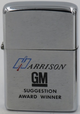 1974 Zippo for Harrison GM or General Motors -Suggestion Award Winner
