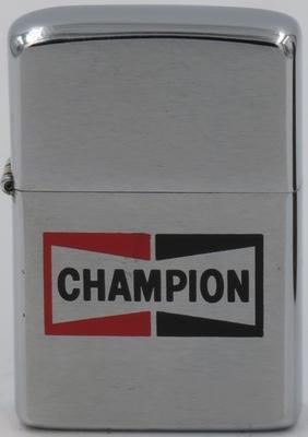 1974 Zippo with Champion bow-tie logo