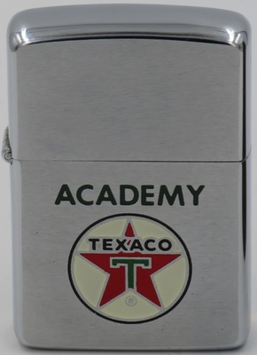 1950 Zippo for Texaco Academy, an internal employee training and eduction program for Texaco employees