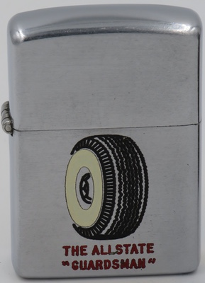 1950 Zippo advertising the Allstate Guardsman Tire