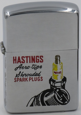1953 Zippo for Hastings Aero-type Shrouded Spark Plugs