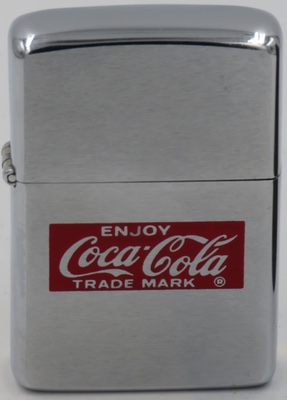 1967 Zippo with the Enjoy Coca-Cola Trade Mark logo
