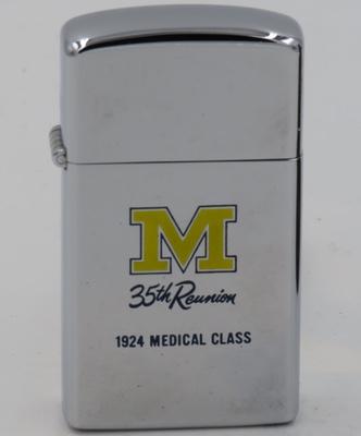 1959 slim Zippo Michigan 35th Reunion Medical Class