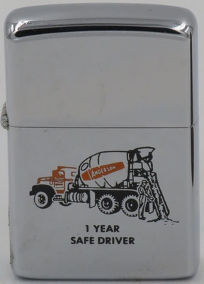 1965 Cement truck Safe Driver J.K. Smith on reverse