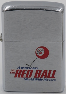 1976 advertising Zippo for American Red Ball World Wide Movers