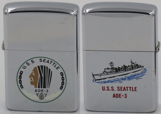 1985 Zippo for USS Seattle, a Sacramento class fast combat ship