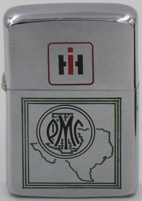1964 Zippo advertising Product Miniature Company, or known as PMC It was a company that manufactured pre-assembled plastic promotional models cars, banks and toys in Milwaukee, Wisconsin.  International Harvester (IH) was a regular client throughout PMC's existence.