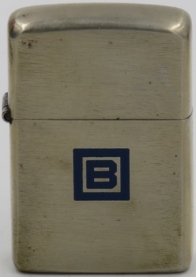 "1948 Zippo with the ""B Square"" logo of Barnsdall Oil Company  which discovered the Barnsdall or Bigheart Oil Field near Tulsa Oklahoma in 1916"