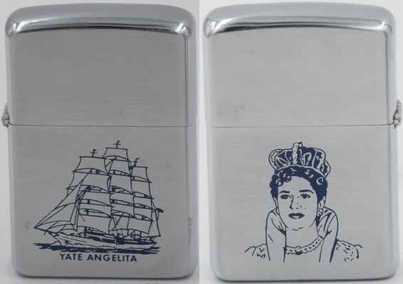 "1958 Zippo with Rafael Trujillo's daughter María de los Angeles, or ""Angelita"" the name sake of the famous yacht"