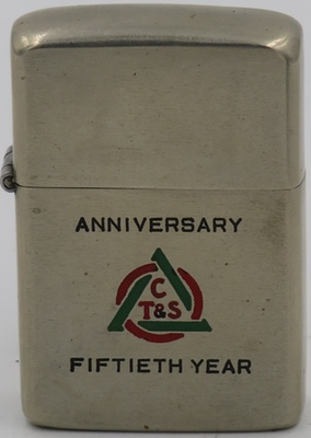 1947 Zippo with logo for CT&S Fiftieth Year Anniversary