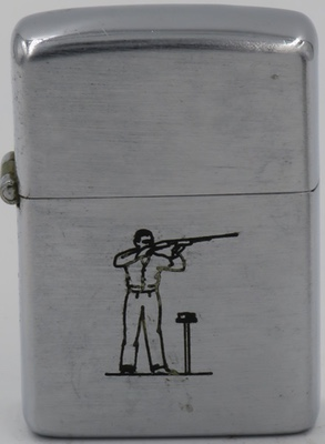 1947 Zippo Skeet Shooter with traces of blue and white original paint