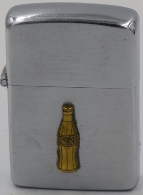 1949 Zippo with a gold-colored attached bottle