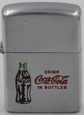1953 Zippo with Coca-Cola in Bottles