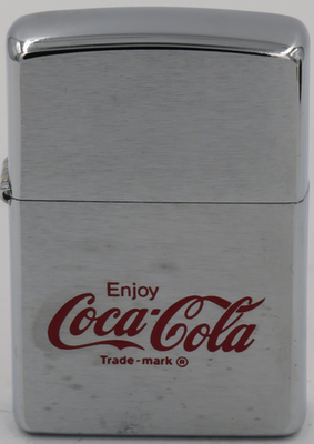 1998 Zippo with the Enjoy Coca-Cola slogan