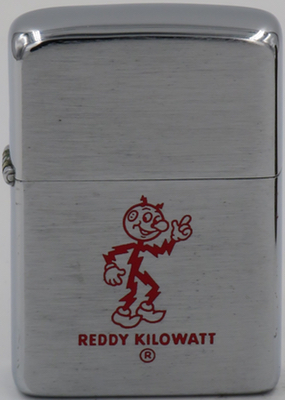 1957 Zippo with the bright red Reddy Kilowatt