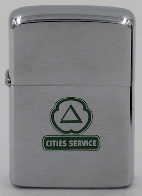 1963 Zippo with the logo of Cities Service.  Started in 1911 it became CitGo in 1982