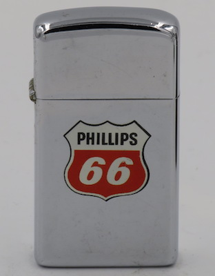 1967 slim  Zippo with the Phillips 66 logo