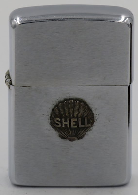 1950's Canadian Zippo with an attached Shell Oil Company clamshell logo