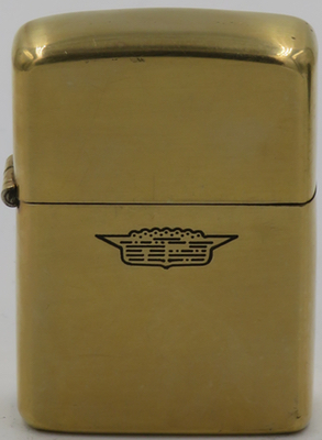 1959 gold-plated Zippo with an engraved Cadillac logo
