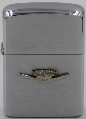 1961 Zippo with a Cadillac logo attached