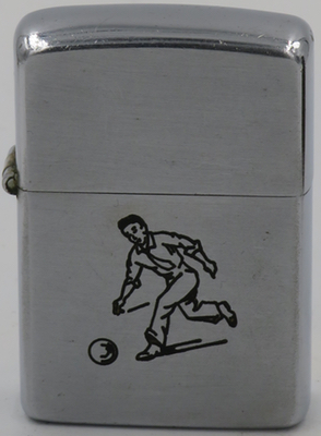 "1946-47 Zippo with the line drawn Sports Series' ""Bowler"""