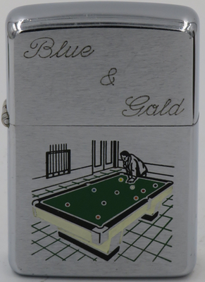 1965 Pool Table blue gold.JPG