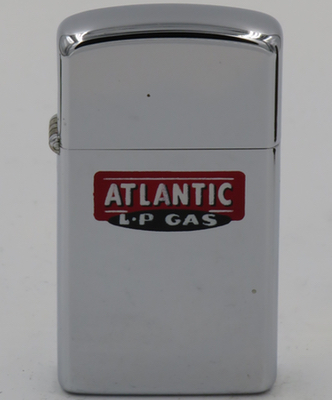 1962 slim Town & Country Zippo for Atlantic LP Gas, or liquified petroleum gas
