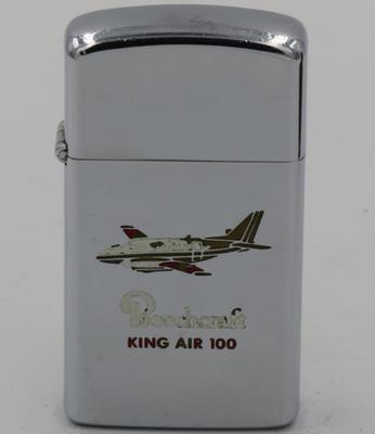 Beechcraft King Air 100 on a slim 1971 Zippo
