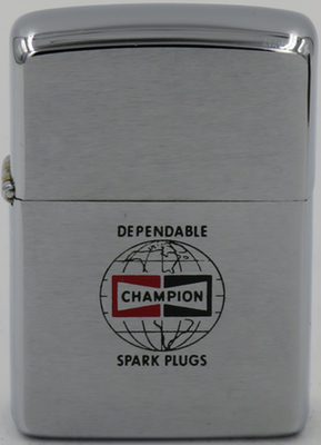 1965 Zippo advertising dependable Champion sparkplugs