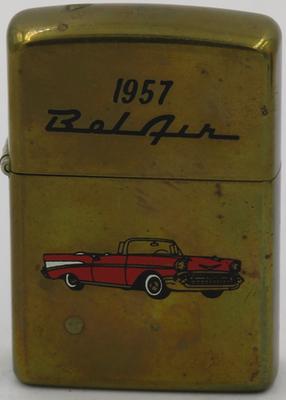 1990 1957 BelAir red on brass .JPG
