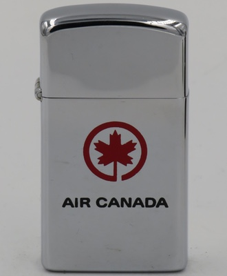1973 slim Zippo for Air Canada, the flag carrier and largest airline of Canada by fleet size and passengers carried. The airline was founded in 1937