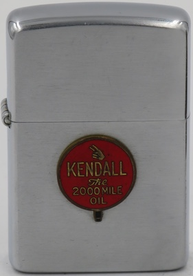 1953 Zippo with attached Kendall badge