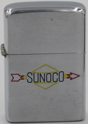 1946-47 Zippo with color-filled line drawn Sunoco logo
