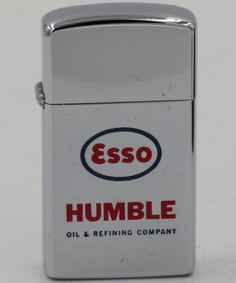 1960 slim Zippo advertising ESSO and Humble Oil