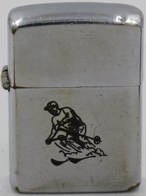 1947-49 line drawn  Zippo  Sport Series Skier
