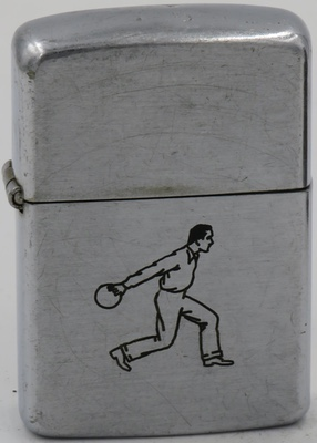 "1946 Zippo with a line drawn Sports Series ""Bowler"""