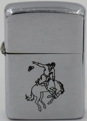 "1946 Zippo withline drawn Sports Series' ""Bucking Bronco"""