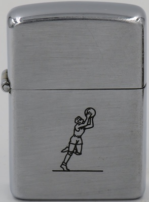 "1946-47 Zippo with line drawn Sports Series' ""Basketball Player"""