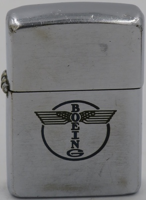 1951 Zippo with the old line-drawn Boeing logo.