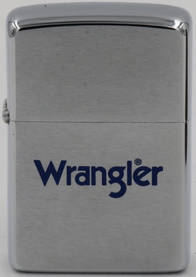 1973 Zippo for Wrangler jeans.  A major brand in Western wear, the Company traces its origins to 1904 when C.C. Hudson bought a couple of sewing machines and started his own business