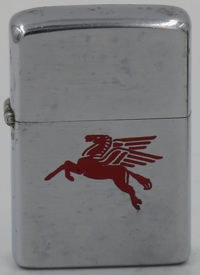 1956 Zippo with the Mobil Pegasus flying horse logo