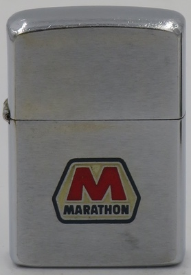 1965 Zippo with the Marathon Oil logo
