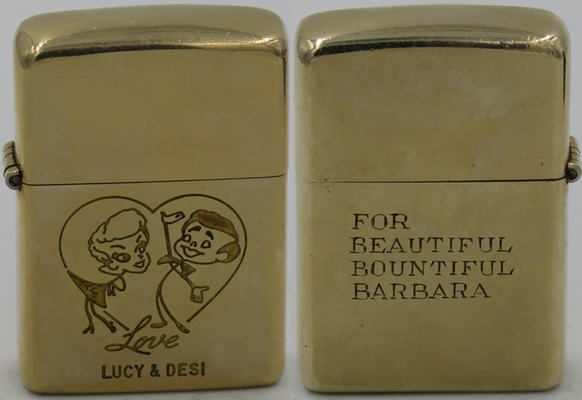 1950 Zippo 10K Gold Filled Lucy Desi Barbara